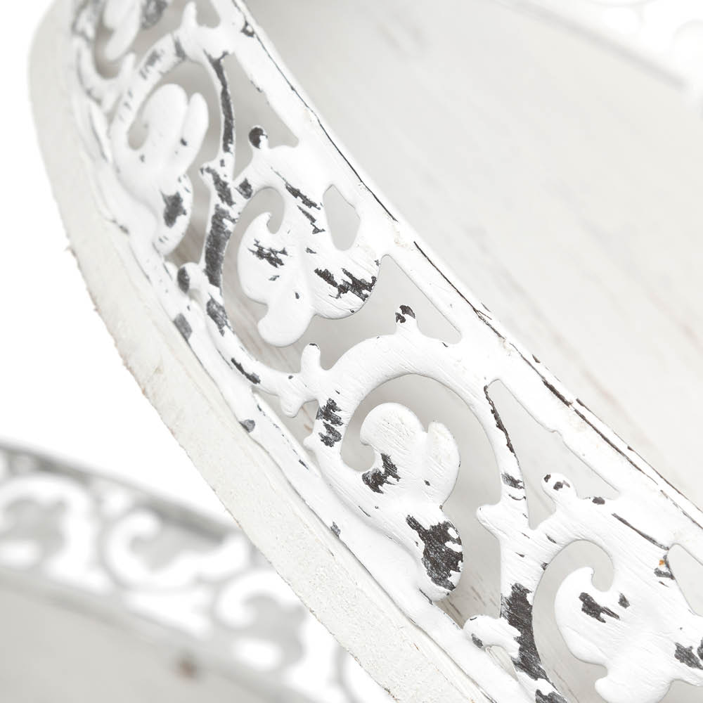 Alzatina in metallo e legno mis. cm Ø 45×65 | Veronicahome ...